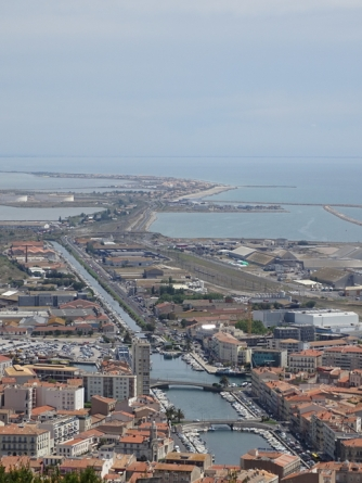 Views of Sete with Frontignan in the background