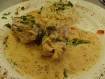 Monk FIsh in a seafoof sauce