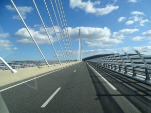 Crossing the Millau Viaduct