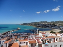 Views to the harbour from Peñiscola Castle