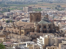 Granada Cathedral from the Alhambra
