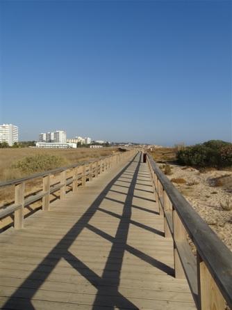 The Boardwalk behind Alvor Beach