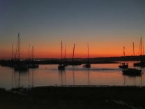 Sunset over the river at Alvor