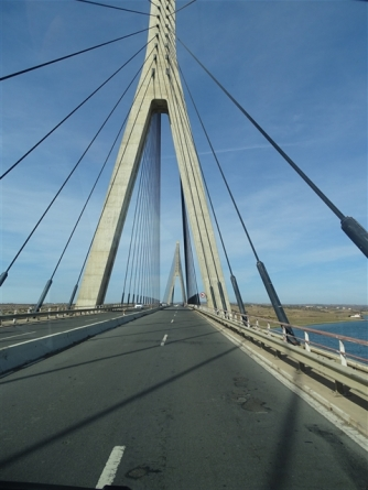 Crossing into Portugal, not quite the Milleau Viaduct!