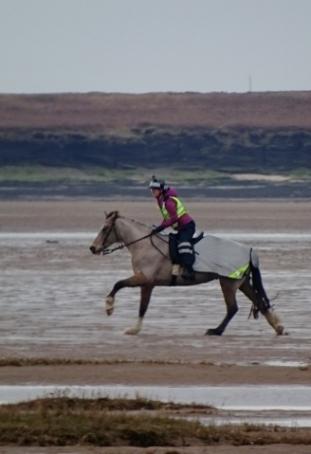 Horseriding on the Dee Estuary