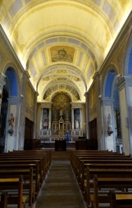 Inside the church at Menthon-Saint-Bernard