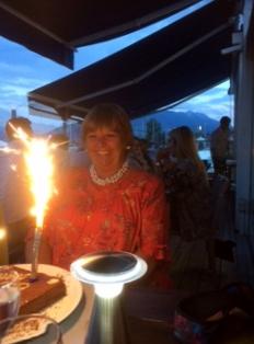 Birthday celebrations at Le Bistrot du Port at Sevrier