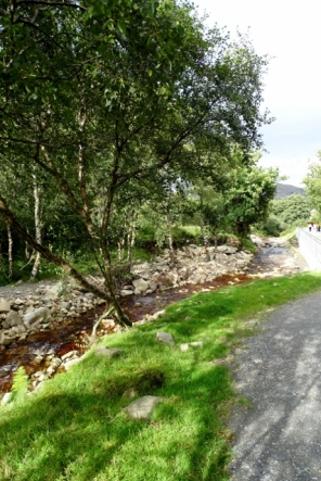 Walk back down from Glenevin Waterfall